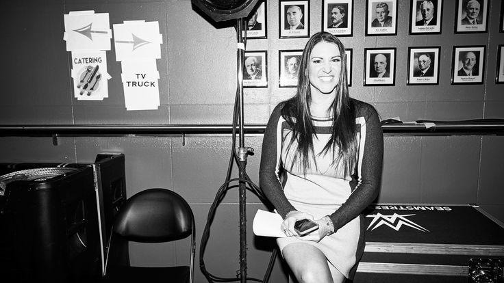Stephanie McMahon backstage at WWE Survivor Series 2016
