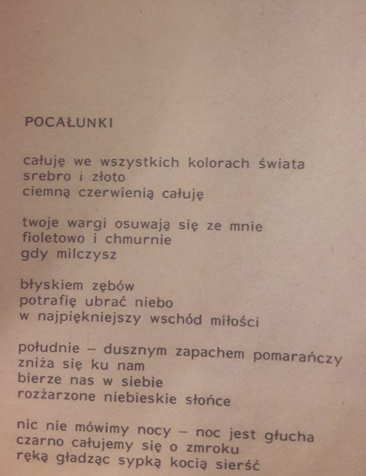 """""""Pocałunki""""  Halina Poświatowska"""