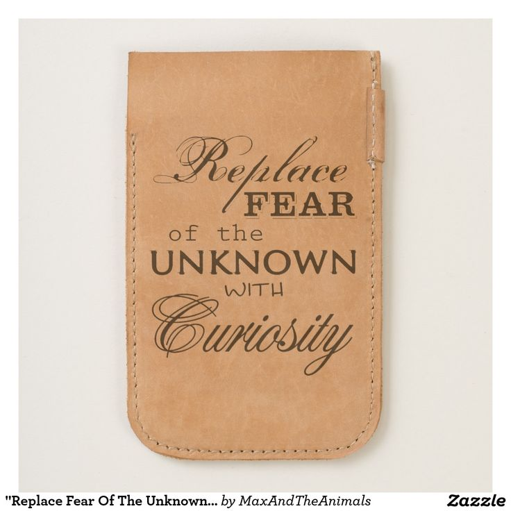 """""""Replace Fear Of The Unknown..."""" Quote Pouch"""