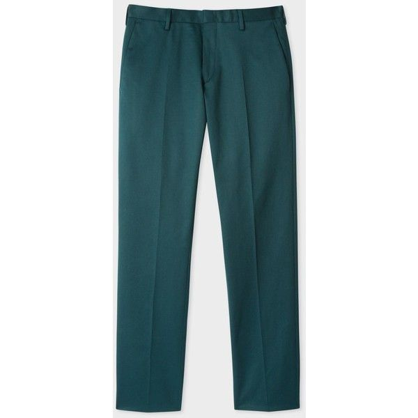 Paul Smith Men's Slim-Fit Dark Green Stretch-Cotton Twill Trousers ($275) ❤ liked on Polyvore featuring men's fashion, men's clothing, men's pants, men's casual pants, mens slim fit twill pants, mens pants, mens elastic waistband pants, mens dark green pants and mens stretch pants