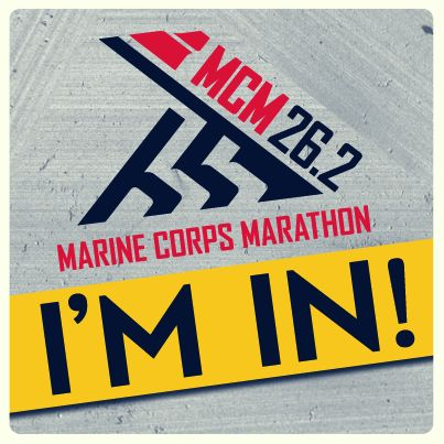 Marine Corp Marathon - I'm in! (Believe it or not)