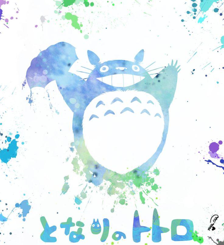 Baby room decor attempt No. 3 (Totoro Umbrella Banzai) – Mickey and Megan's Blog. Watercolor art for nursery. Ghibli - Hayao Miyazaki