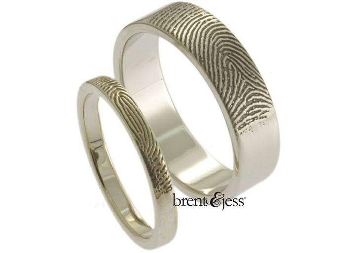 Custom fingerprint wedding rings!