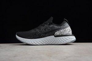 2c9479d8c61f Mens Womens Shoes Nike Epic React Flyknit Elephant Print Black Gray White  AQ0067 991