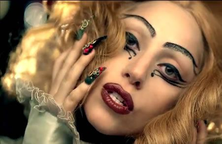 EGYPTIAN: We all know that Lady Gaga is known for her wild and crazy makeup and this eyeliner trick she pulled in the Judas video was beautiful! It was unique, different and totally one of the freshest eyeliner tricks that I've ever seen!