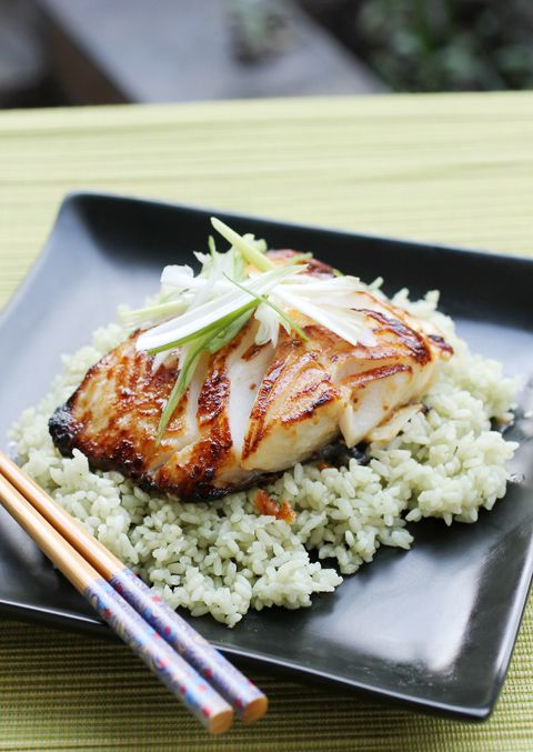 Miso-glazed black cod to enjoy in the comfort of your own home.