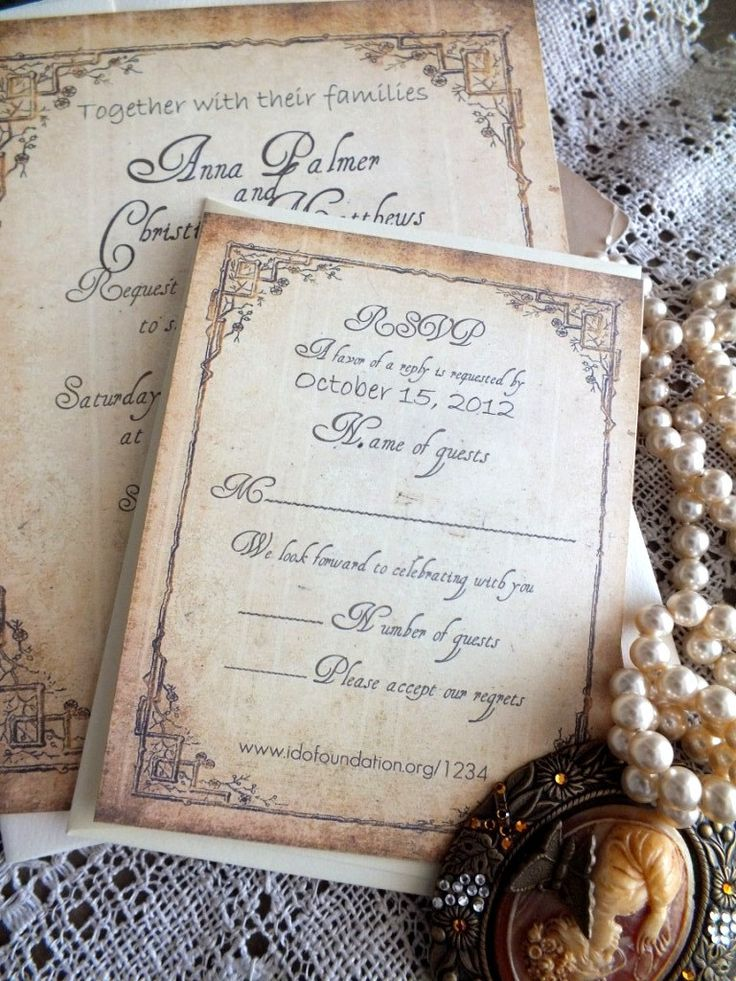 Vintage Wedding Invitation Suite Sample by AVintageObsession