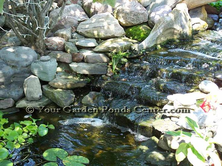Waterfall designs designs how to build a pond kit liners for Garden pond equipment