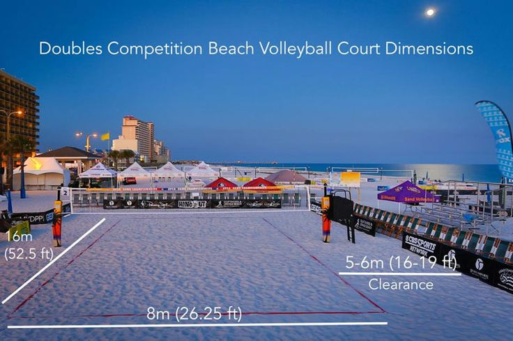 Doubles Beach Volleyball Court Dimensions by Sports Imports