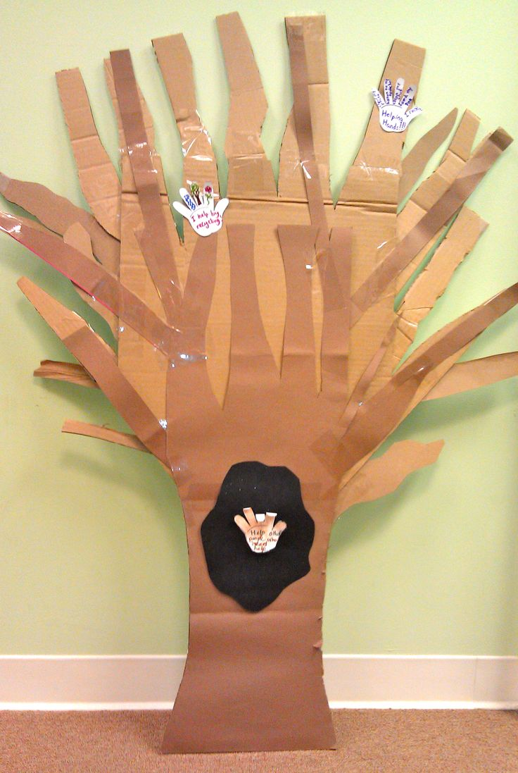Lets Go Chipper Craft Make A Helping Hand Tree