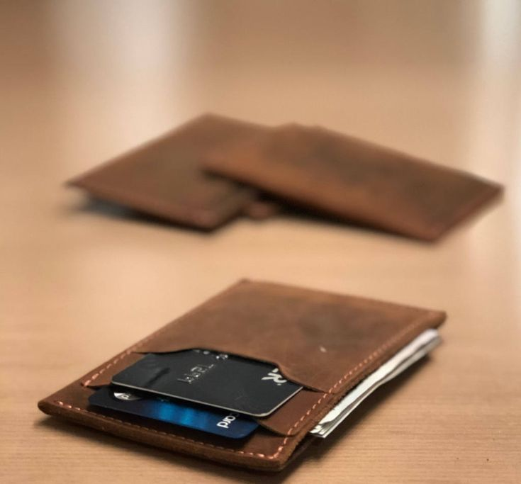 """Thanks for the kind words! ★★★★★ """"Amazing quality. My husband loved it."""" Jamie S. http://etsy.me/2E0YoTo #etsy #accessories #wallet #brown #anniversary #fathersday #slimcardholder #frontpocketwallet #minimalistwallet #menswallet"""