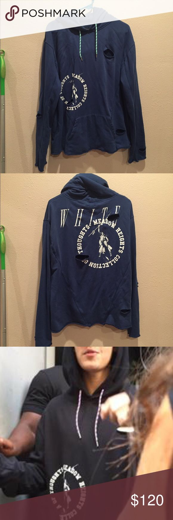 Off white Virgil abloh Native American hoodie Great condition ! Originally $450 Off white Sweaters Crew & Scoop Necks