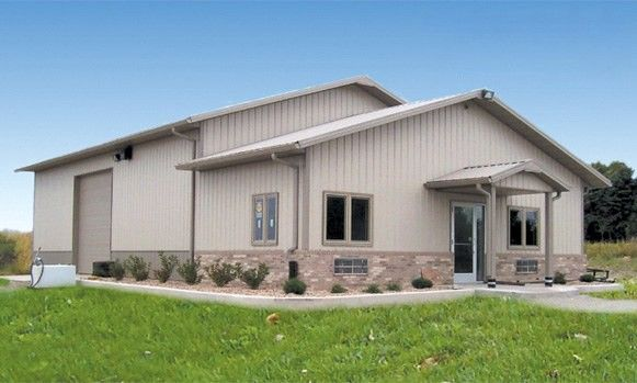 Metal buildings with living quarters commercial building for Barn construction designs