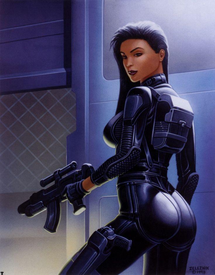 Sexy sci-fi art