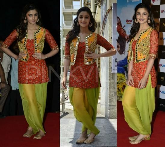Alia teams up patiala suit with Arpita Mehta vest