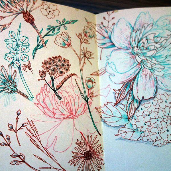 Sketchbook pics on Behance Anna Aniskina