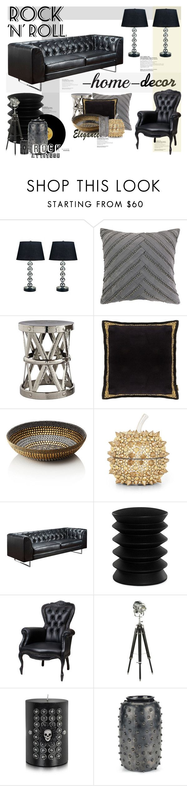 Rock n roll decor by maddycruise liked on polyvore featuring interior interiors interior - Rock n roll dekoration ...