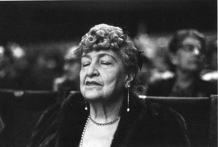 Alma Mahler listening to a performance of a Mahler symphony.Life Magazine, 1960