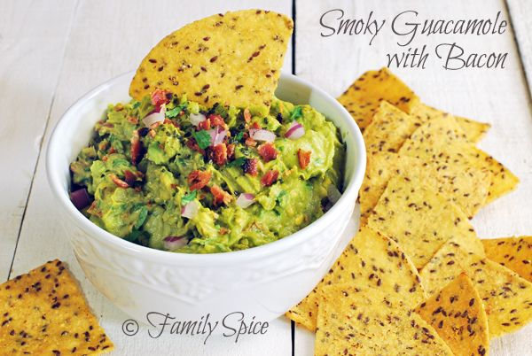 Smokey Guacamole with Bacon by Family Spice @Laura | Family Spice