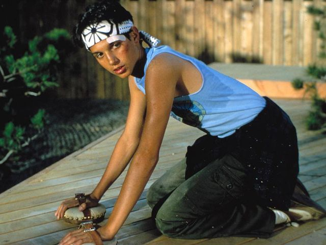 Ralph Machio as Daniel Larusso in The Karate Kid