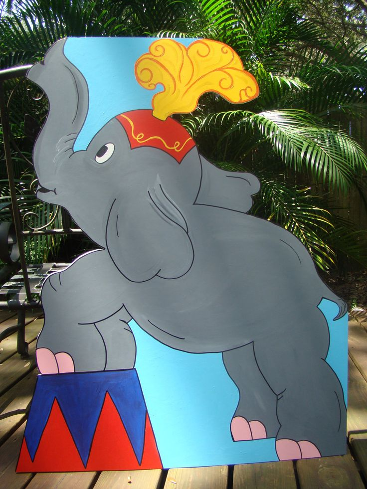 Performing Elephant - Circus or Carnival Themed Party Decoration and Props. $75.00, via Etsy.