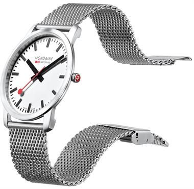 A tasteful way to bring European rail into the style conversation. While very reminiscent of Skagen's thin profile, this Mondaine watch (the official Swiss Railways folk) combines modern, classic and landmark style so well that only its visual appeal can truly tell its story.