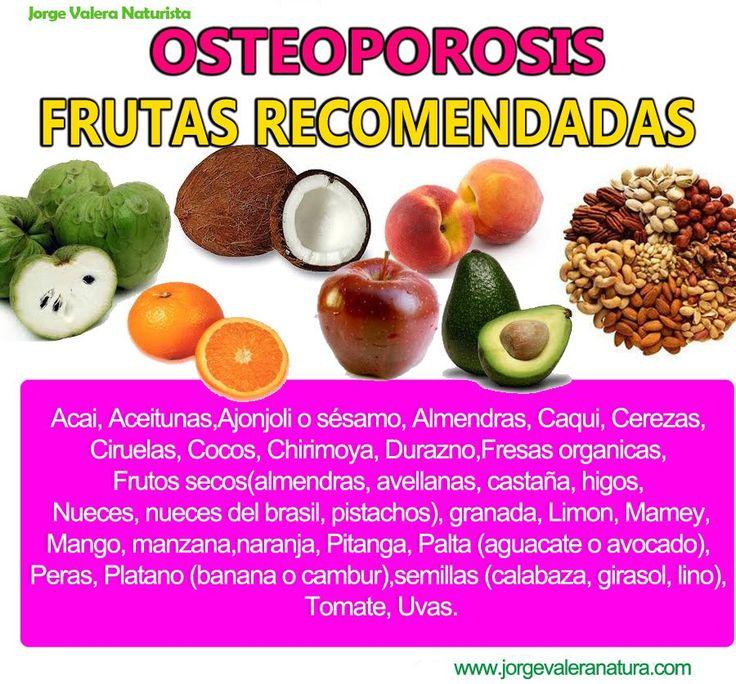Remedios naturales contra la OSTEOPOROSIS: frutas recomendadas