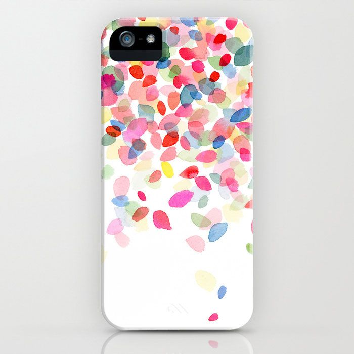 Color Drops Falling iPhone Case | dotandbo.com