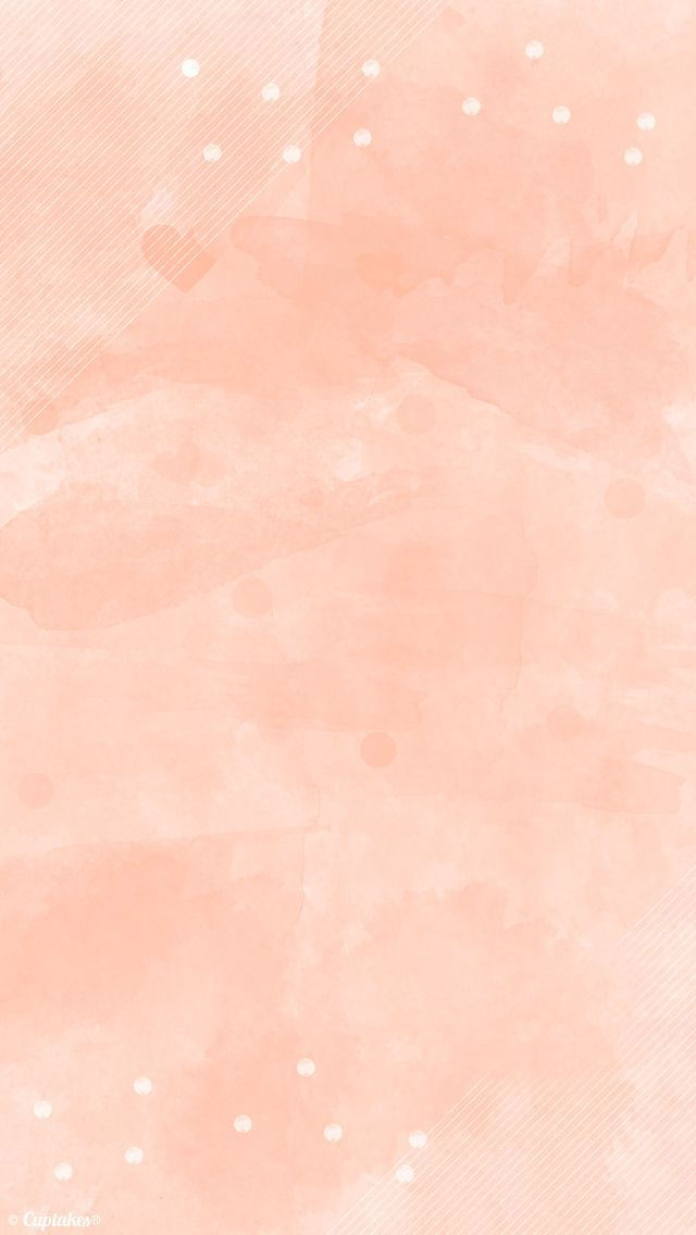 Peach coral watercolour iphone phone wallpaper background lock screen