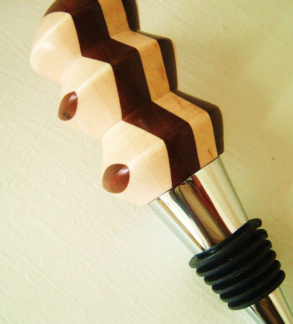Hand Turned Wood Wine Stopper by TheArtSceneOnline on Etsy, $35.00 AWESOME!!