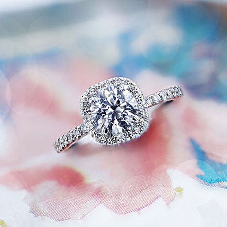 1.50 Ct Solitaire VVS1 Diamond Engagement Ring 14K White Gold Ring Size J K L M #Caratforever #SolitairewithAccents #Engagement