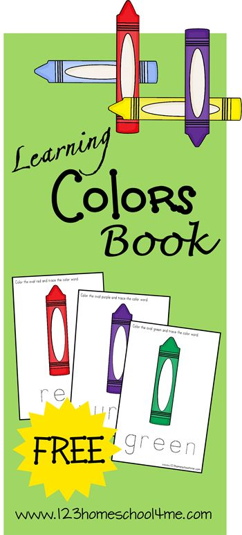 free learning colors book instant download - Color Books For Toddlers
