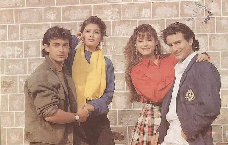 Aamir Khan, Raveena Tandon, Neelam Kothari and Saif Ali Khan