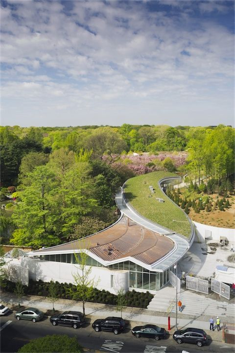 awesome green roof.  Brooklyn Botanic Garden Visitor Center Opens to the Public (18)
