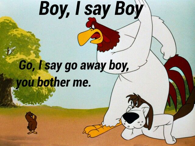 Cartoon Pics And Quotes About Chickens: Foghorn Leghorn