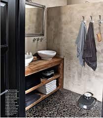 mozaïek tegels grijs badkamer hout - Google Search