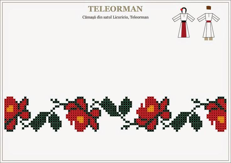 Semne Cusute: Romanian traditional motifs - MUNTENIA - Teleorman...