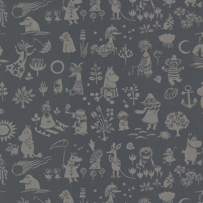 "Sandudd Moomin Novelty 36.75' x 20.5"" Wallpaper Roll"