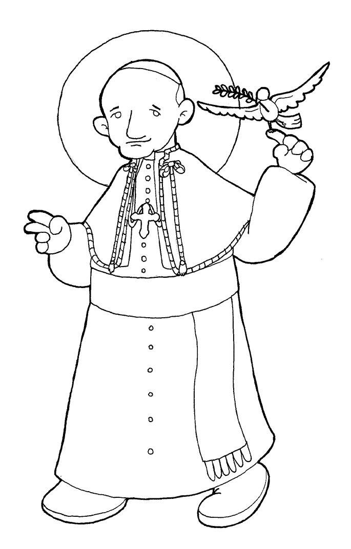 PAPA SAN JUAN XXIII para pintar.