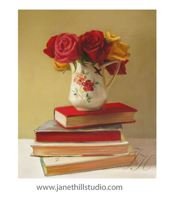 Realism Still Life Painting- The Ruffled Edges- Art Print from original painting by Janet Hill. For sale through her Etsy shop.