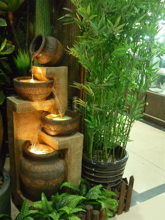 Fashion resin water fountain feng shui wheel crafts fish tank bonsai humidifier water features home decoration $874.28