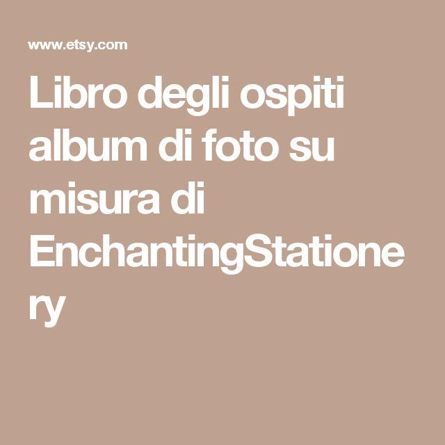Libro degli ospiti album di foto su misura di EnchantingStationery