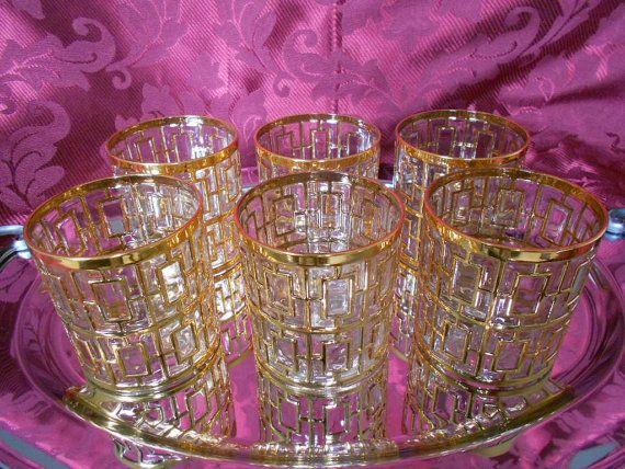 Six Imperial Glass Shoji Pattern Glass Tumbler by GuelphJunction