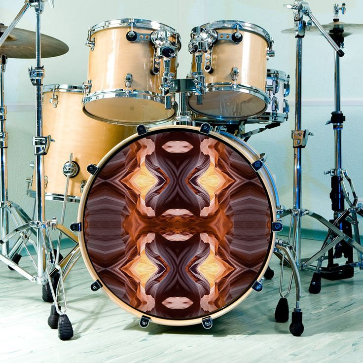 Our popular Antelope Canyon drum skin design for customizing drum heads and kits.