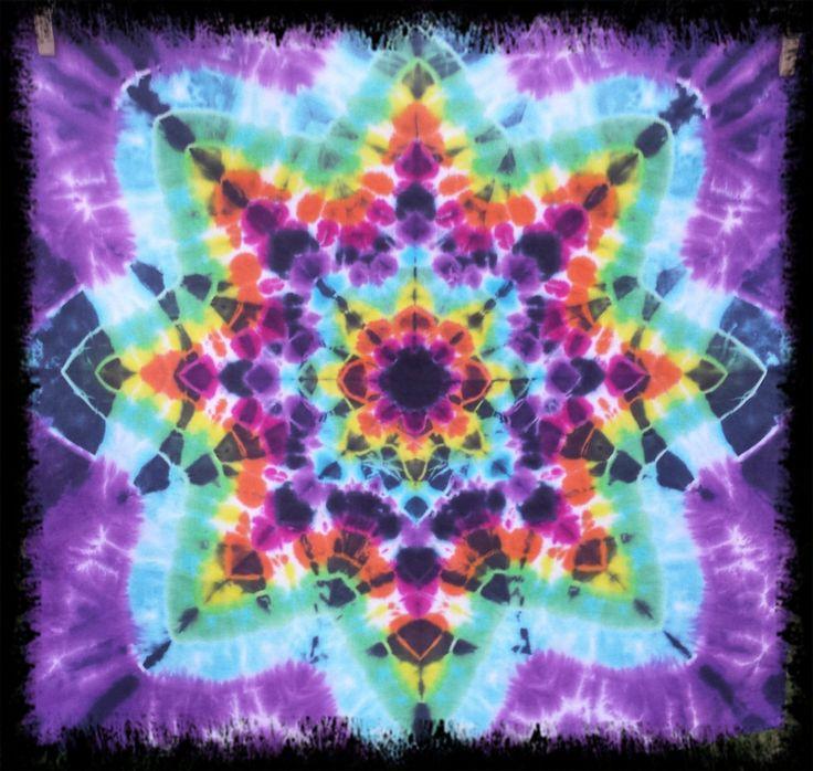 Tie dyed star bandana/wall art by DyingDazeTieDye on Etsy