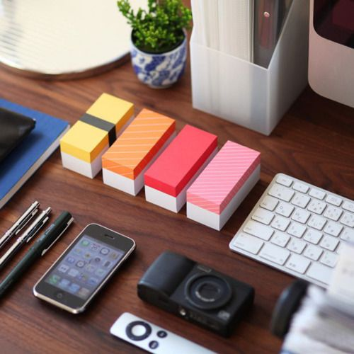 Awesome-looking setup!: Memo Blocks, Sushi Memo, Memo Pads, The Offices, Sushi Postit, Products, Sushimemo, Desks Accessories, Offices Supplies