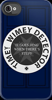 Timey Wimey Detector case! Would totally set my message tone to a DING! So it would go ding when there's stuff!