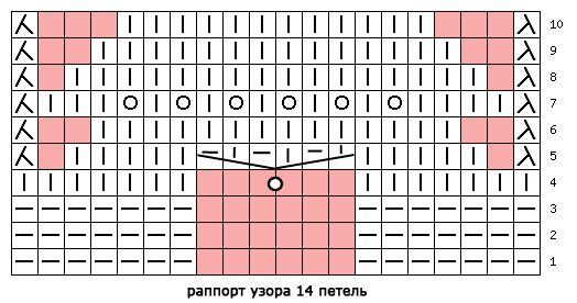 схема узора 481