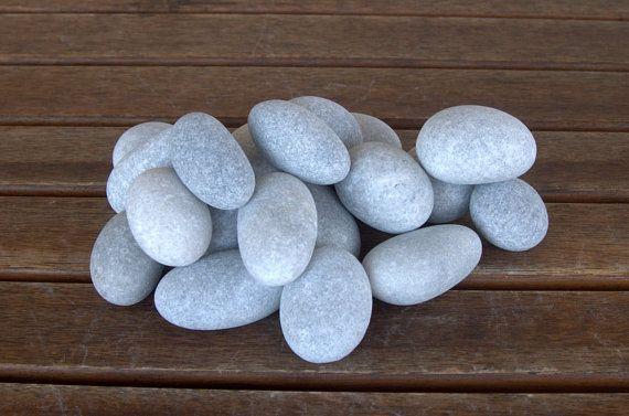 19 Small-Medium Egg Stones2-3 inchesBeach StonesSea