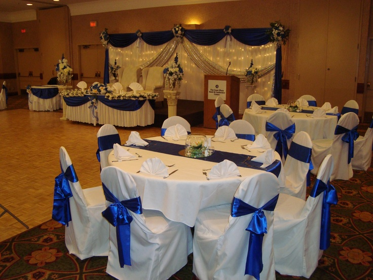 Banquet hall decoration by noretas decor inc http for Hall decoration pictures